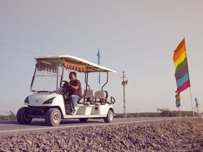 Rann Utsav Golf cart